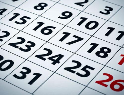 Calendario del contribuyente 2020